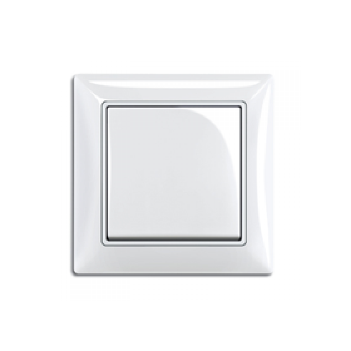 2Переключатель промежуточный (альпийский белый) 1012-0-2145 Basic 55