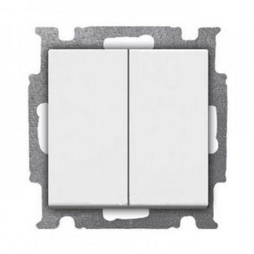 Выключатель двухклавишный (альпийский белый) 1012-0-2141 Basic 55