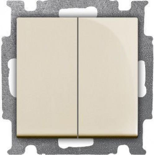 Выключатель двухклавишный (сл.кость) 1012-0-2148 Basic 55