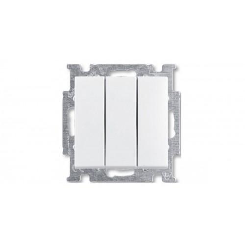 Выключатель трехклавишный (альпийский белый) 1012-0-2155 Basic 55