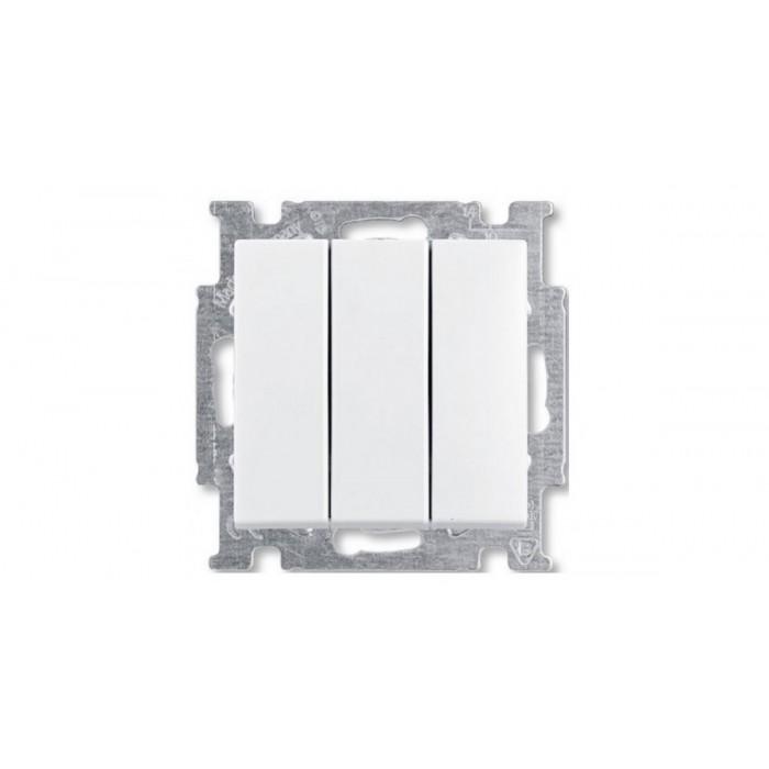 1Выключатель трехклавишный (белый) 1012-0-2155 Basic 55