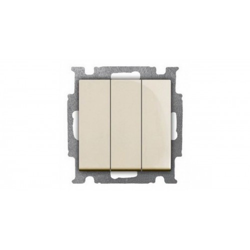 Выключатель трехклавишный (сл.кость) 1012-0-2158 Basic 55