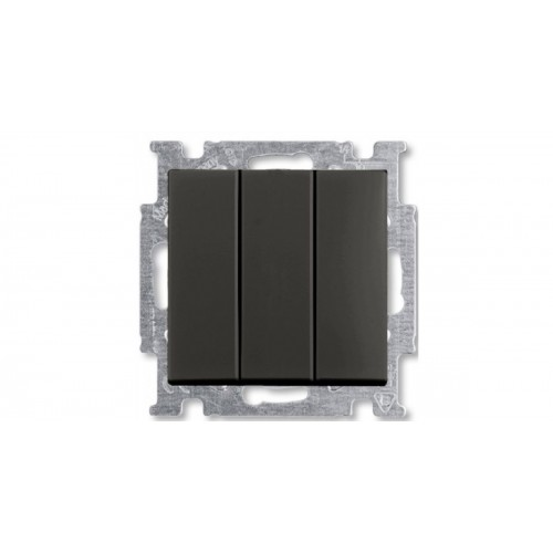 Выключатель трехклавишный (шато-черный) 1012-0-2173 Basic 55