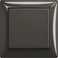 Выключатель одноклавишный (шато-черный) 1012-0-2174 Basic 55