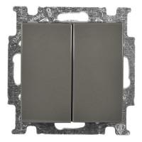 Выключатель двухклавишный (шато-черный) 1012-0-2177 Basic 55