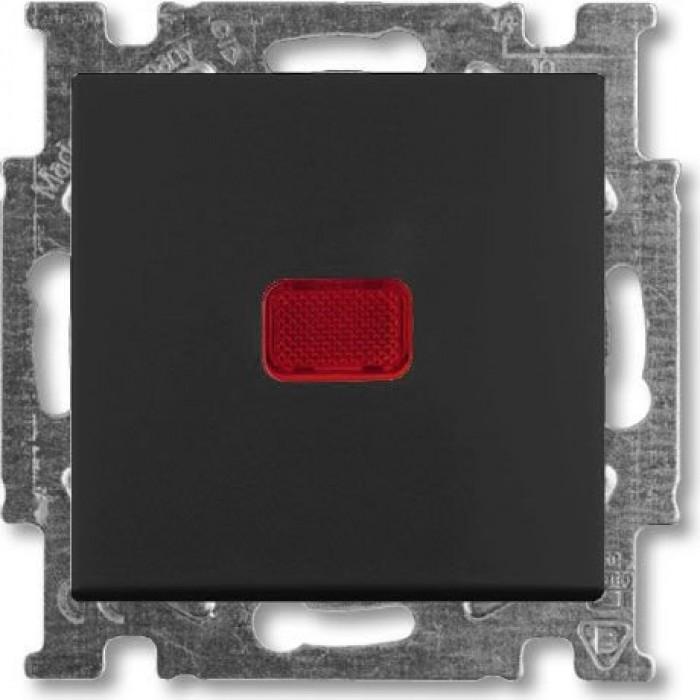 1Переключатель на 2 направления с подсветкой шато-черный 1012-0-2180 Basic 55