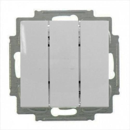 Выключатель трехклавишный (шале-белый) 1012-0-2183 Basic 55