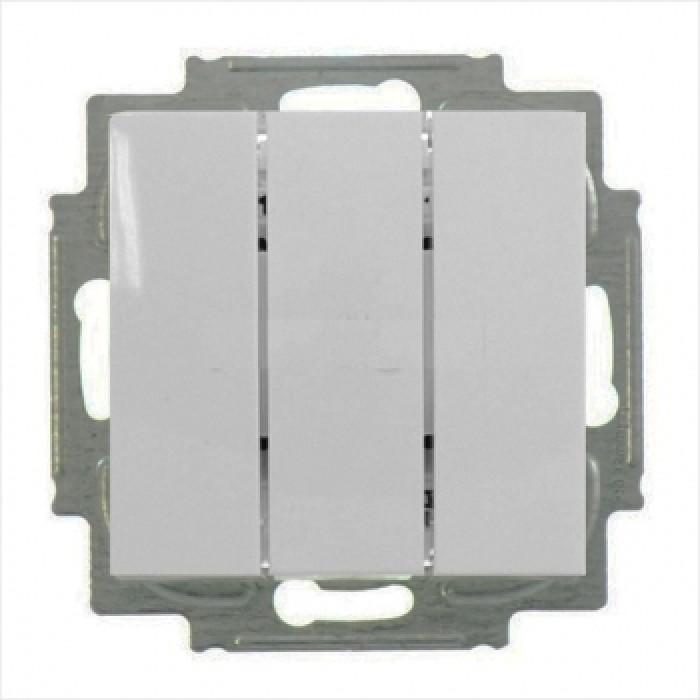1Выключатель трехклавишный (шале-белый) 1012-0-2183 Basic 55