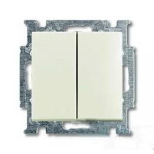 Выключатель двухклавишный (шале-белый) 1012-0-2187 Basic 55