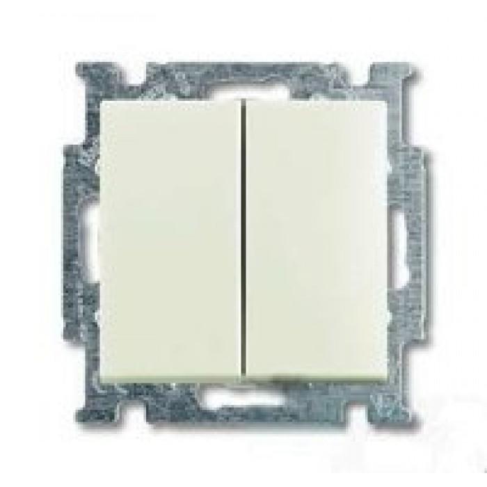 1Выключатель двухклавишный (шале-белый) 1012-0-2187 Basic 55