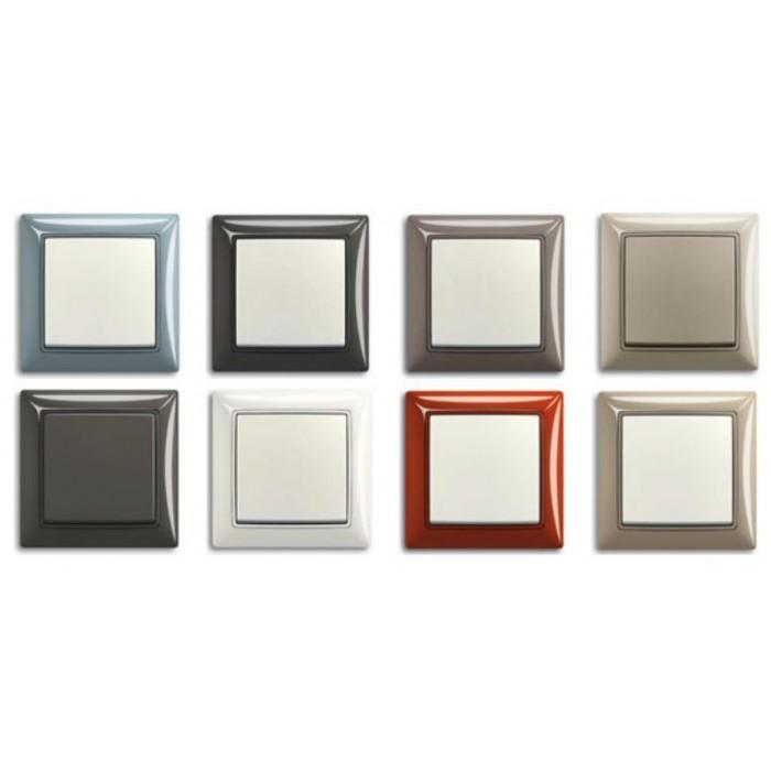 2Выключатель двухклавишный с подсветкой (шале-белый) 1012-0-2188 Basic 55