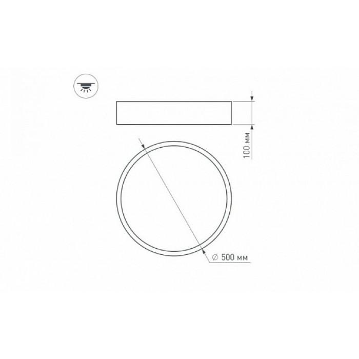 2Светильник 022124 SP-TOR-TB500SB-30W-R White-MIX Arlight круглой формы