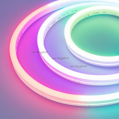 Герметичная лента DMX MOONLIGHT-5000S-SIDE-5060-84-24V RGB (12х17mm, 18W, IP67) (arlight, 18 Вт/м, I