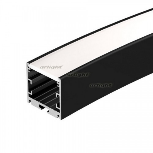 Профиль SL-ARC-3535-D1500-A45 BLACK (590мм, дуга 1 из 8) (arlight, Алюминий)