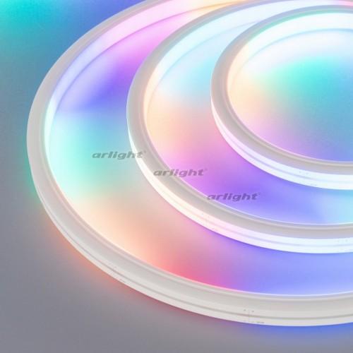 Герметичная лента DMX MOONLIGHT-5000S-TOP-5060-84-24V RGB (13х12mm, 18W, IP67) (arlight, 18 Вт/м, IP