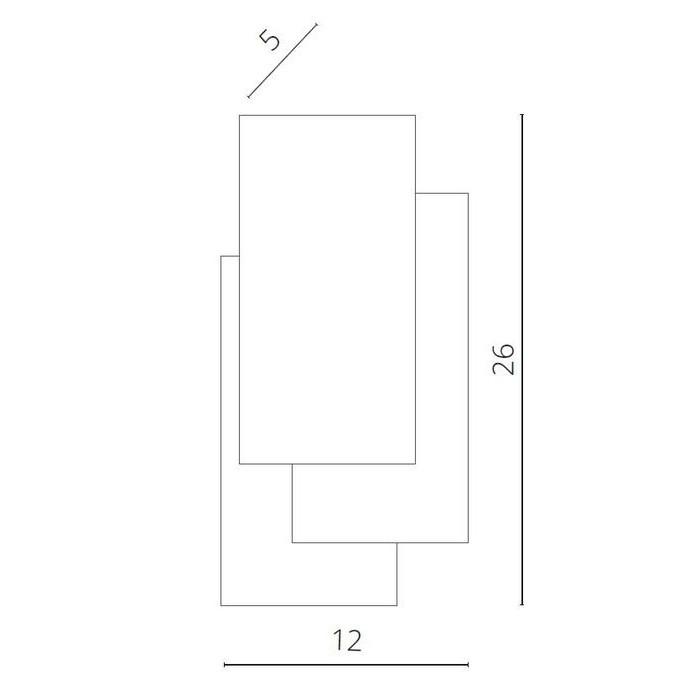 2Светильник бра A1718AP-1GY Arte Lamp