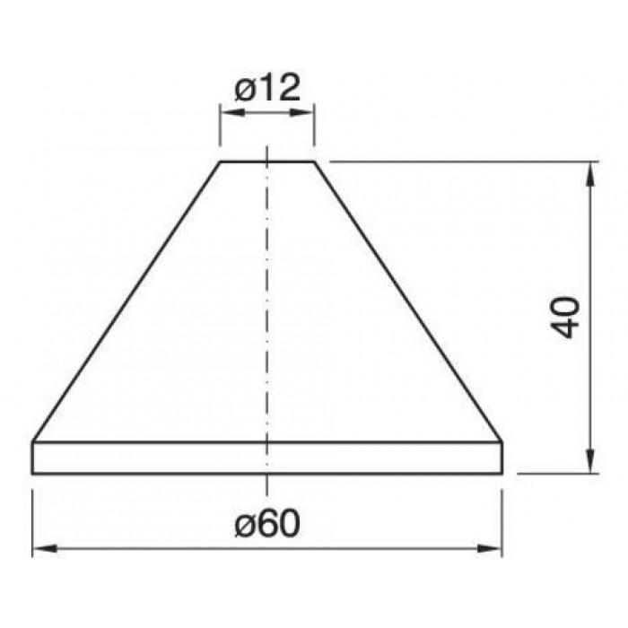 2013165 Чашка черная d=60, h=40 mm