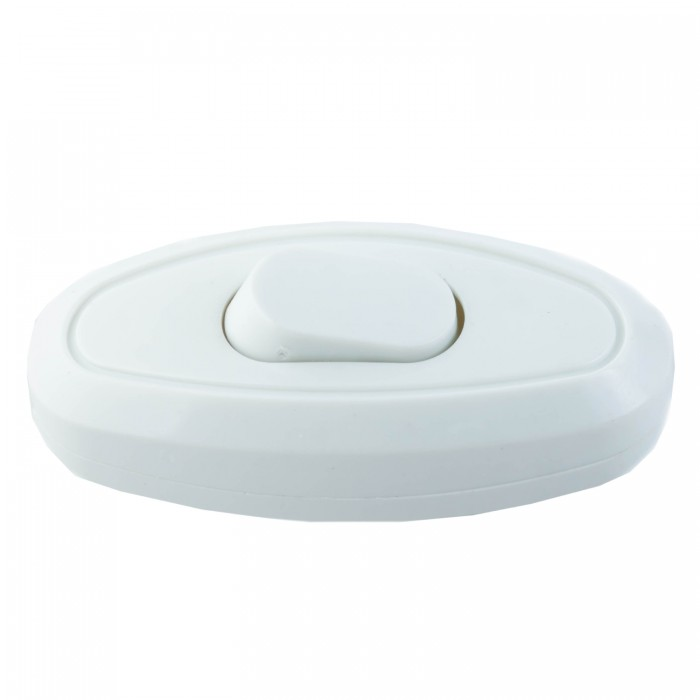 1018136 Выключатель на шнур белый