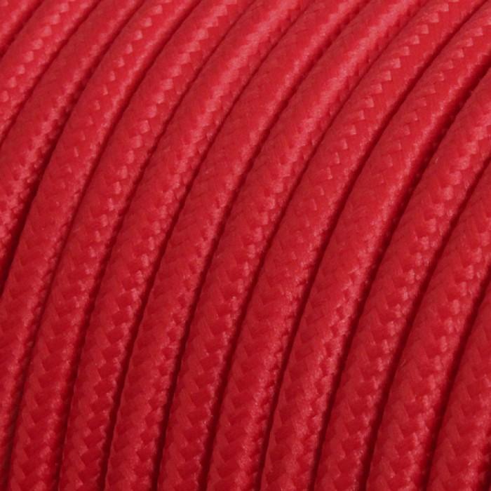 1Провод круглый в оплетке тканевой красный МЕЗОНИНЪ