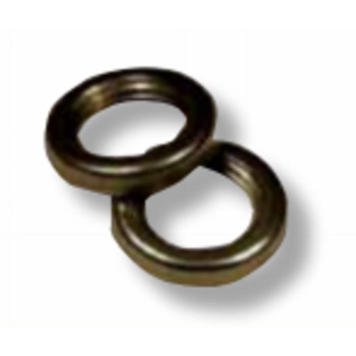 1038G Гайка круглая d=M10x1 H=3 D=14 сталь, цвет антик