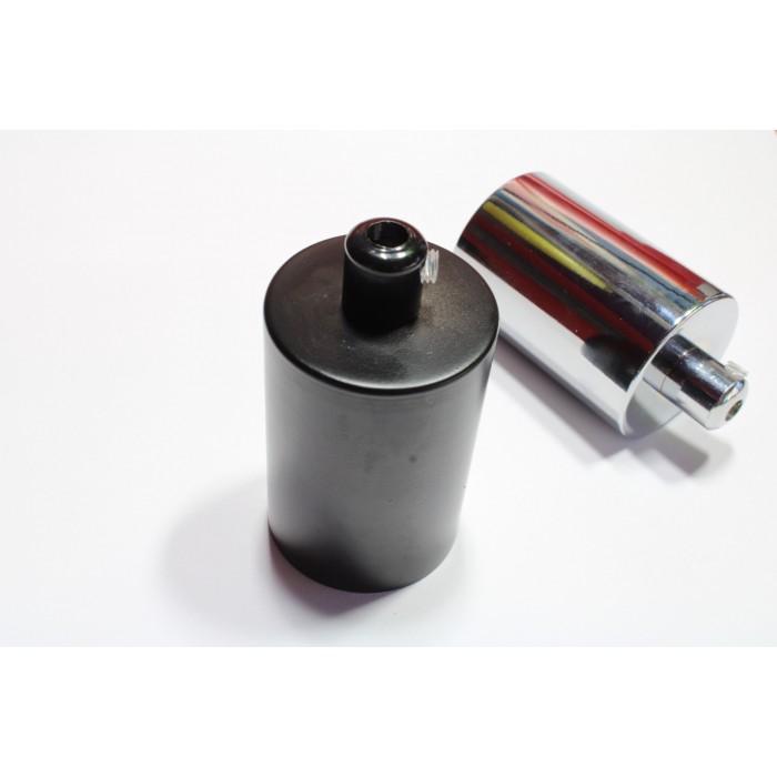 20413 Патрон Е27 в комплекте со стаканчиком и зажимом, цвет черный матовый