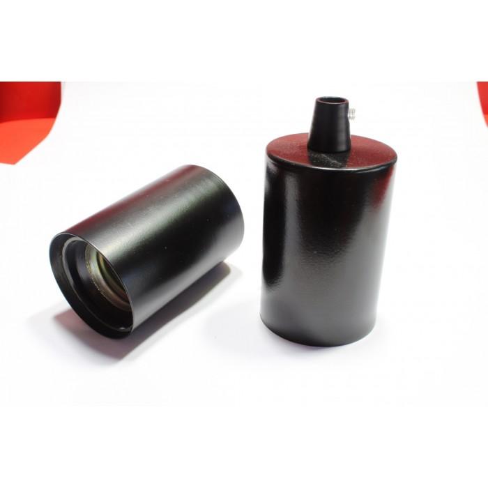 10413 Патрон Е27 в комплекте со стаканчиком и зажимом, цвет черный матовый
