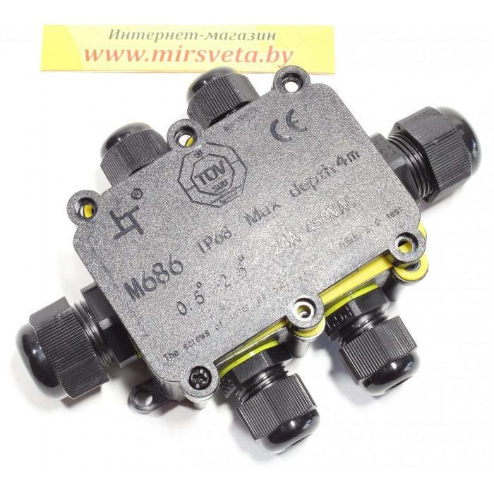 1Водонепроницаемая cоединительная коробка, LD526, 450V, 140х100х36, черный