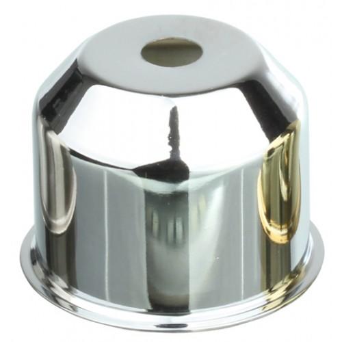 CU01 CH Стаканчик под патрон Е27 с бортиком, h=35, сталь, хром