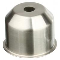 CU01 NI Стаканчик под патрон Е27 с бортиком, h=35, сталь, никель