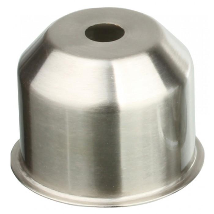 1CU01 NI Стаканчик под патрон Е27 с бортиком, h=35, сталь, никель