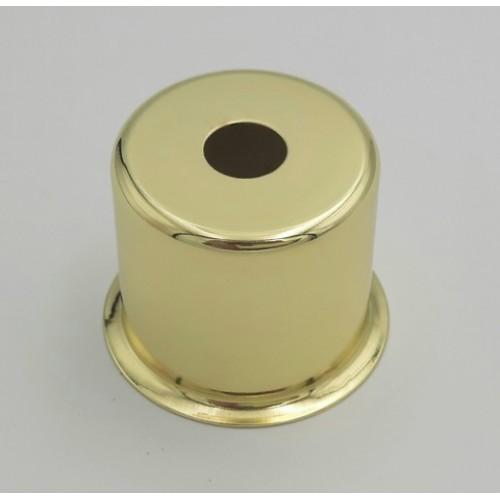 CU08 GO Стаканчик под патрон Е14 с бортиком, L=30 H=30, сталь, золото