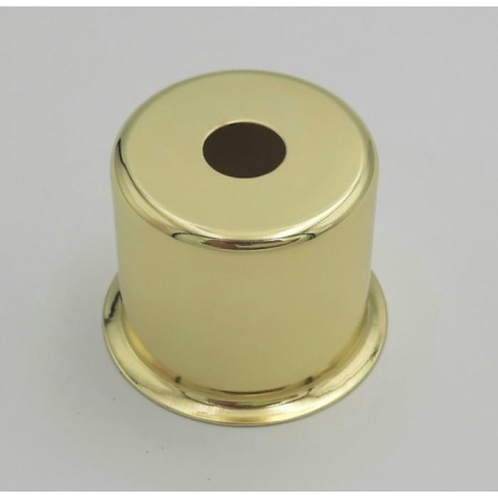1CU08 GO Стаканчик под патрон Е14 с бортиком, L=30 H=30, сталь, золото