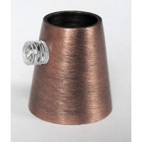 Держатель провода L=15мм, М10х1, цвет античная медь, артикул FN15 AC