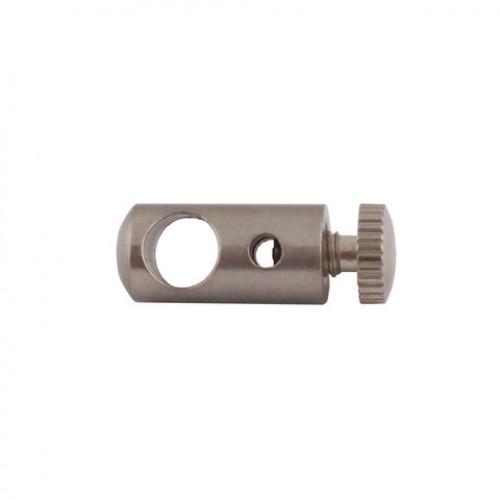 Держатель тросика и провода d=8 L=25мм, цвет никель, GG01 NI