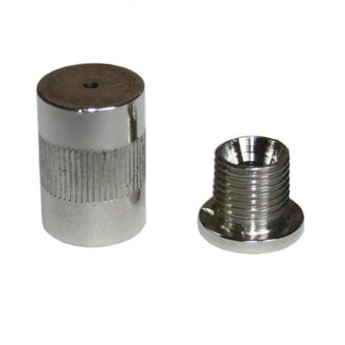 Держатель троса из двух частей H= 21,8 мм D=13,6 мм, цвет никель, N-CG13 NI
