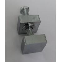 SET01 CH Крепление для плоского стекла, состоящее из винта М4 l=27,3мм +2 квадратные гайки 11х11 мм, хром