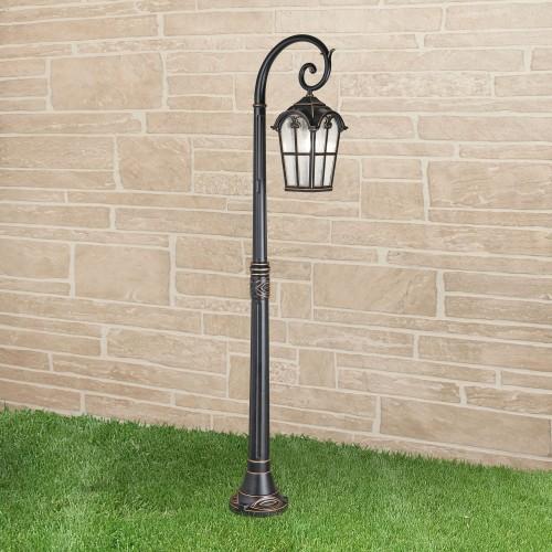 1001F Mira F черное золото уличный светильник на столбе Электростандарт