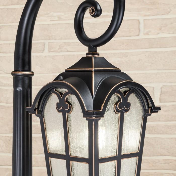 2Mira F черное золото уличный светильник на столбе Электростандарт
