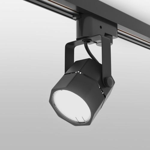1004 Трековый светильник для однофазного шинопровода Robi GU10 Черный Электростандарт