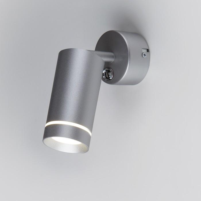 1Настенный светодиодный светильник 1005 Glory SW LED серебро настенный светодиодный светильник