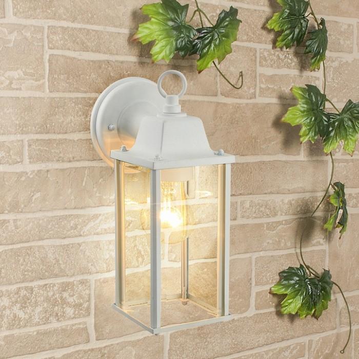 1Настенный уличный светильник 1008D Brick белого цвета
