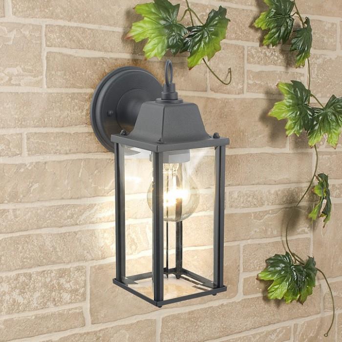 1Настенный уличный светильник 1008D Brick серого цвета