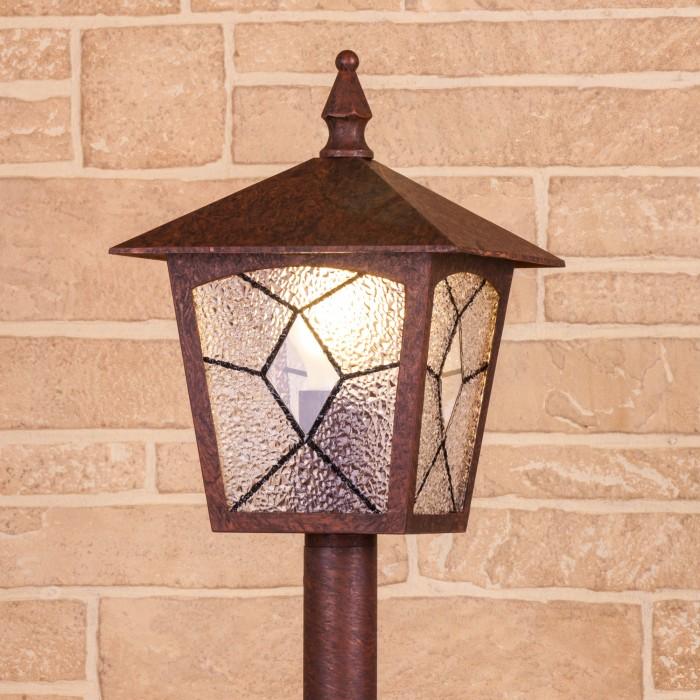 1Lyra F брауни уличный светильник на столбе Электростандарт