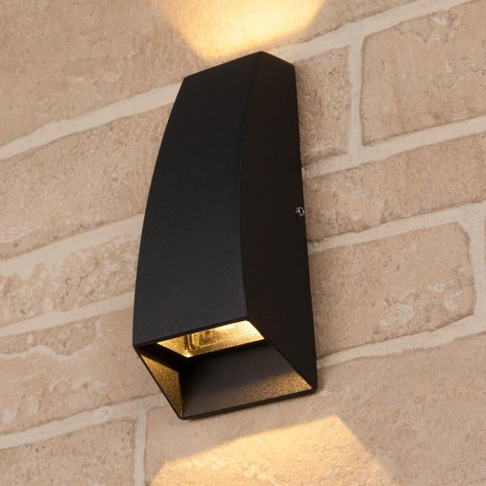 1Пылевлагозащищенный светодиодный светильник 1016 Techno черный IP54 Elektrostandart