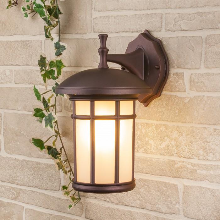 1Lepus D кофейное золото уличный настенный светильник Электростандарт