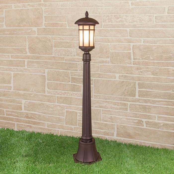 1Lepus F кофейное золото уличный светильник на столбе Электростандарт