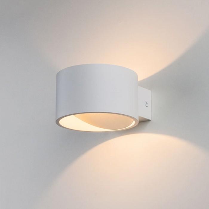 1Настенный светодиодный светильник 1045 Coneto белый Elektrostandart