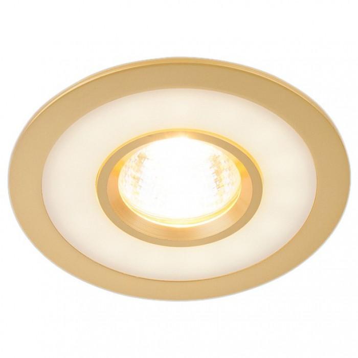 1Встраиваемый светильник 1052 золото Электростандарт
