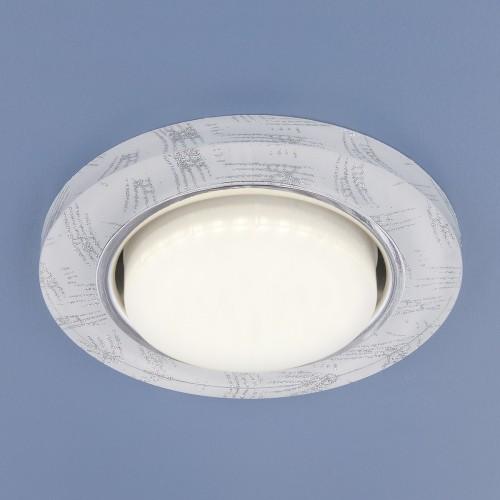 1062 белый/серебро GX53 Встраиваемый светильник Электростандврт