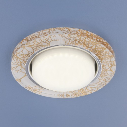 1062 GX53 белый/золото Электростандарт Встраиваемый светильник